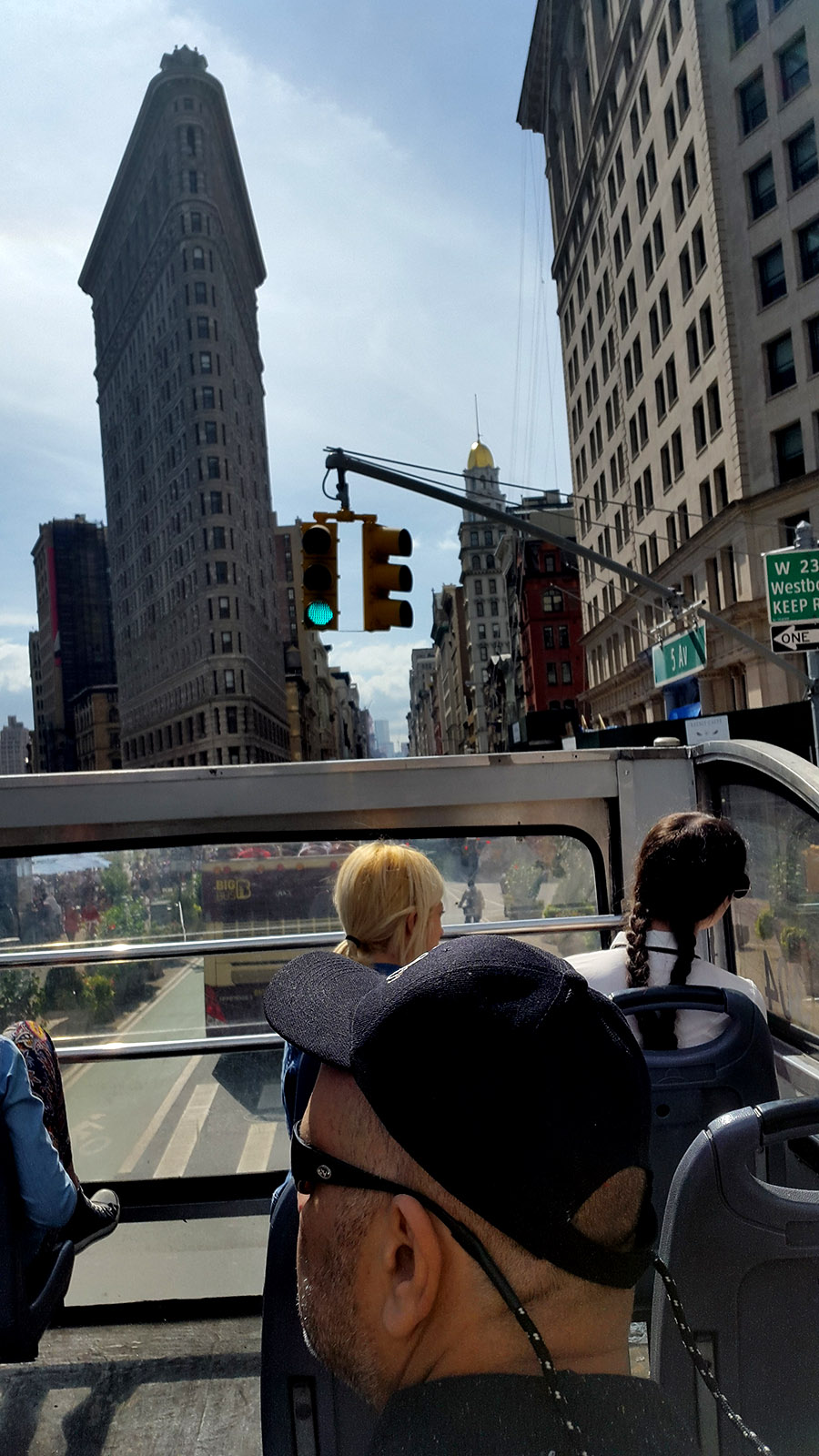 Flat Iron building - view from Hop of hop on bus