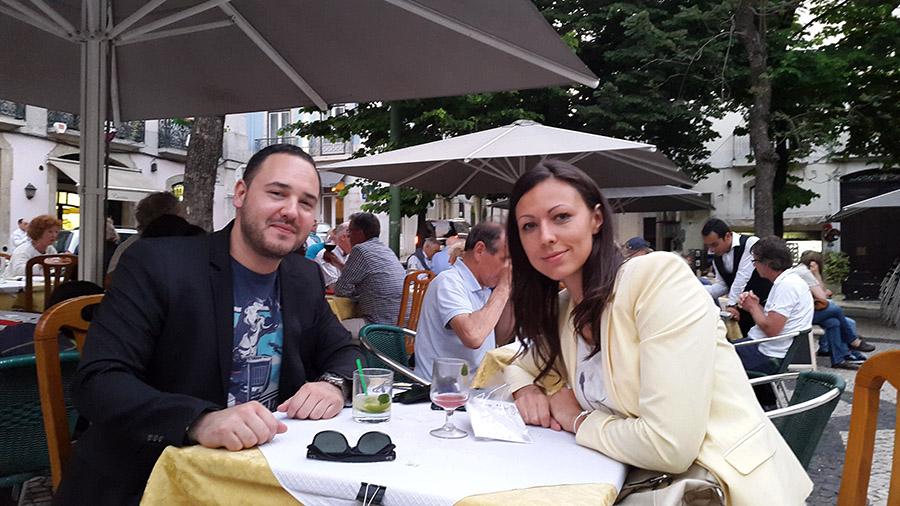 Having drinks in Bairro Alto Portugal