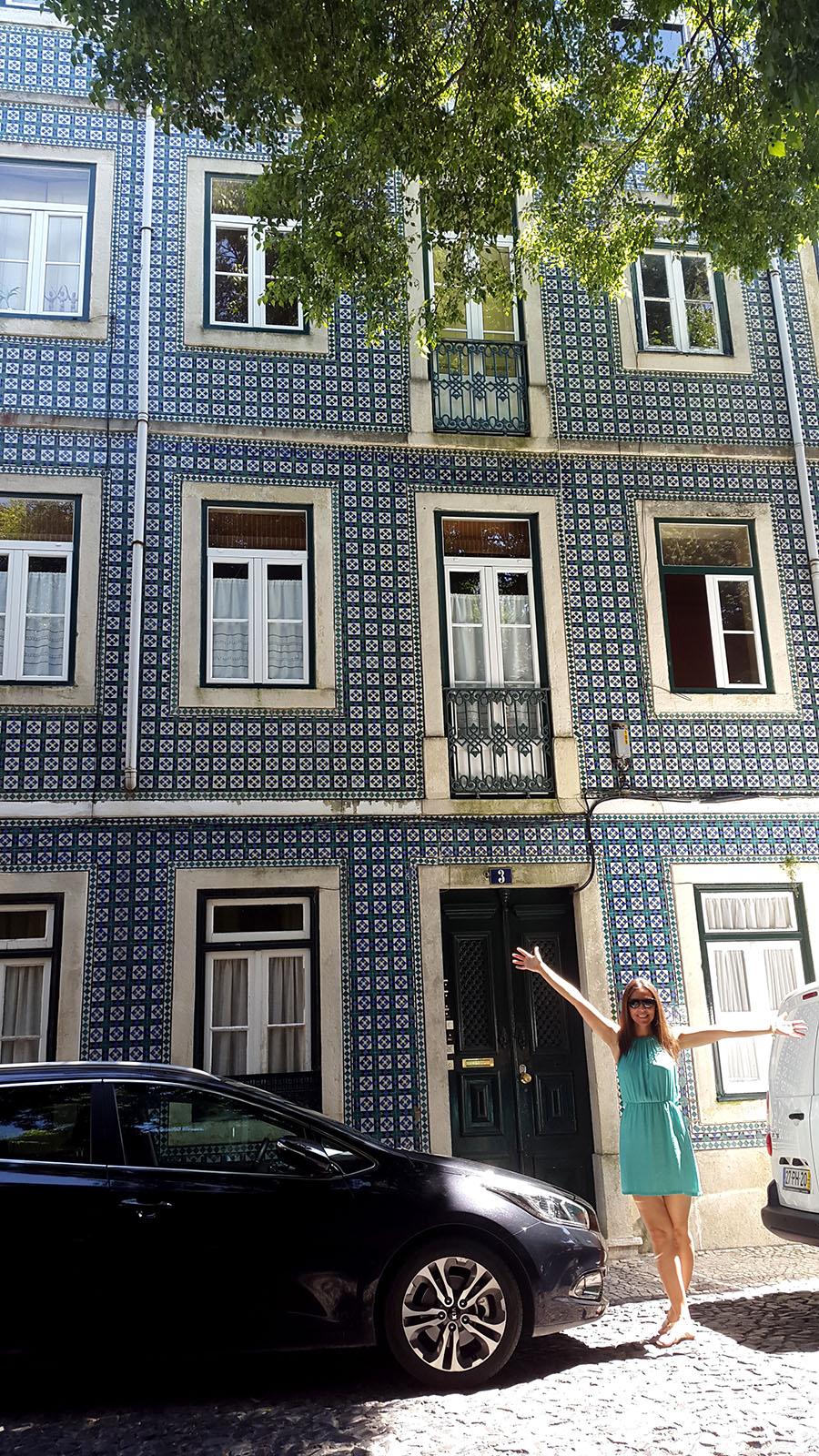 Lisbon mosaic building Portugal
