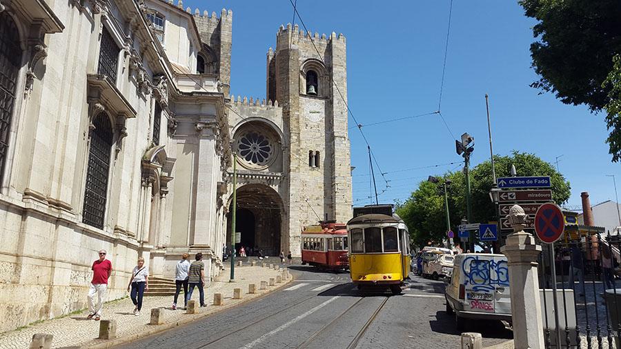 Lisbon trams Portugal