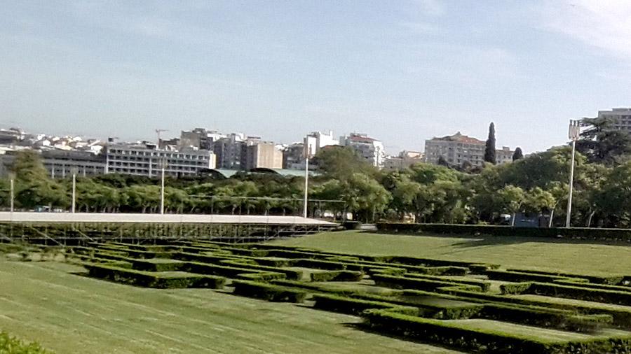 Parque Eduardo VII in Lisbon Portugal