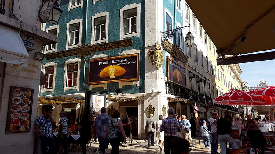 Pastel de bacalau - pastry - Rua Augusta - Lisbon