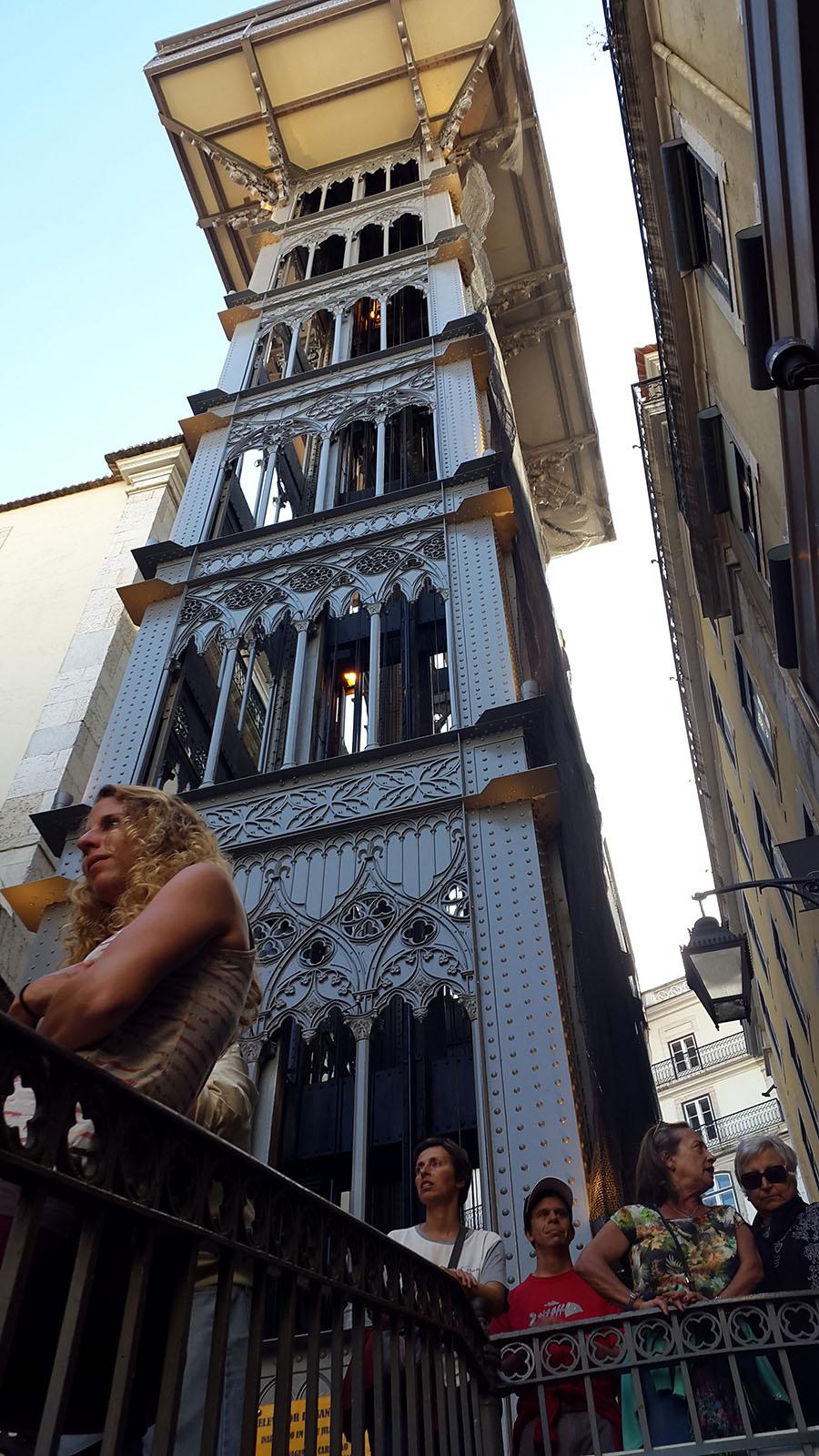 Santa Justo Lift - elevator in Lisbon