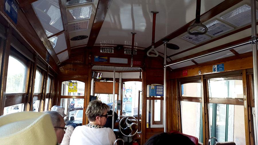 Tram ride Lisbon Portugal