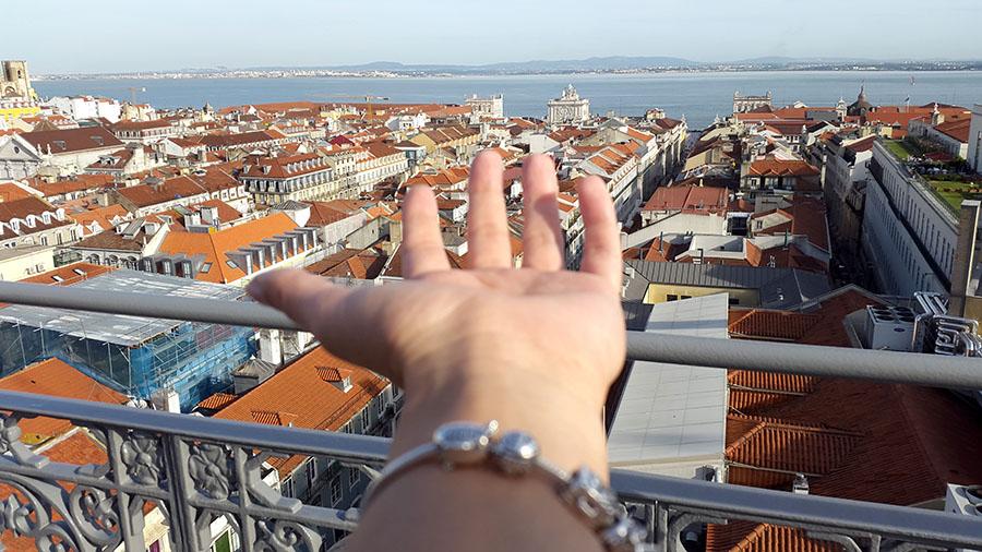 View from Santa Justo Lift Lisbon