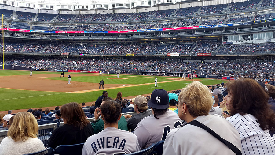 Watching baseball game at Yankee stadium NYC