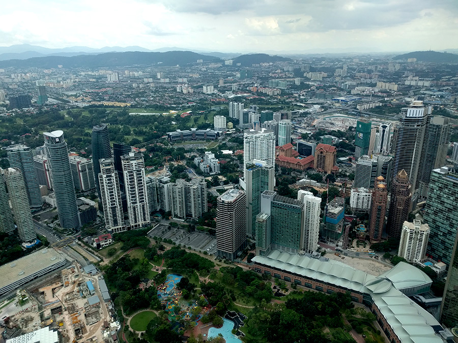 View from the Skybridge, Petronas Towers