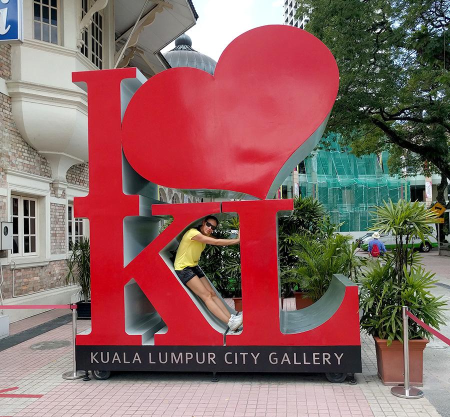I love KL sign at Datran Merdeka square Kuala Lumpur