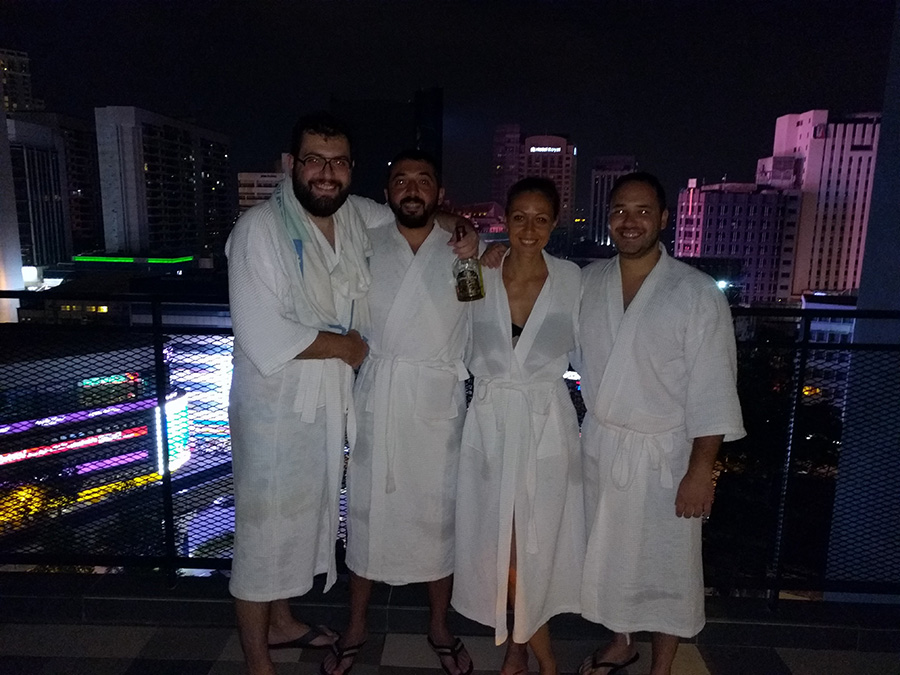 After having a swim roof top of the hotel in kl