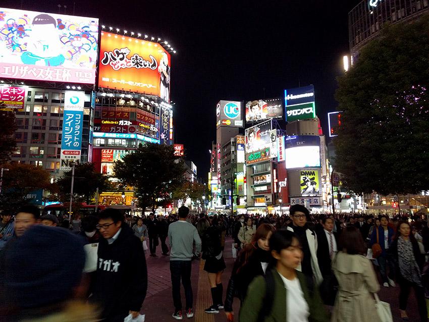 Crowd in Shibuya streets Tokyo.