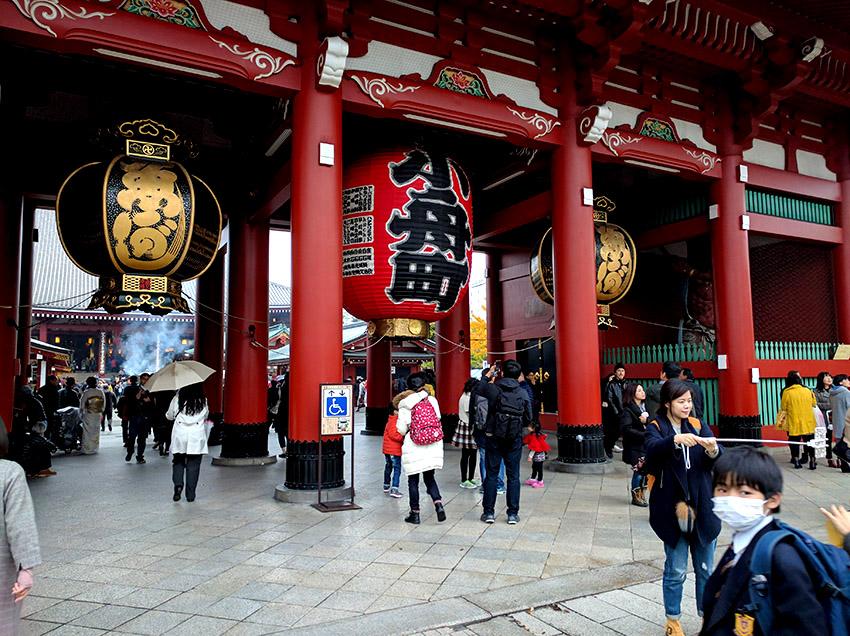 Sensoji Temple in Taito city, Asakusa district.