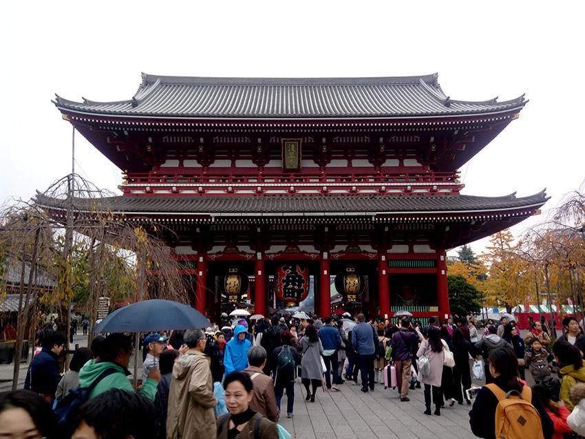 Sensoji Temple in Tokyo Taito city Asakusa district.