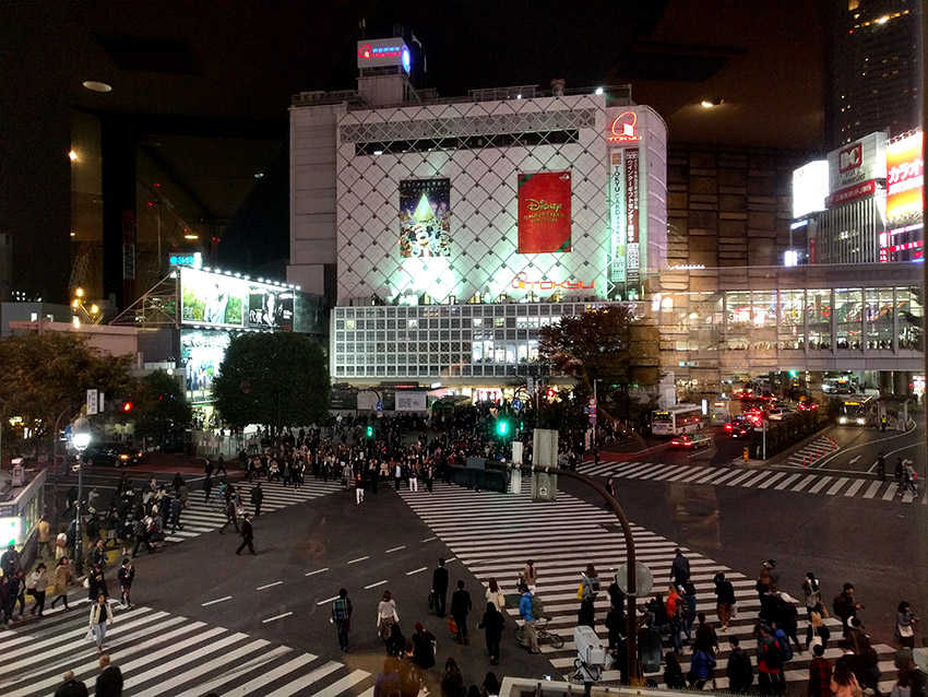 Shibuya crossing - the world craziest crossing.