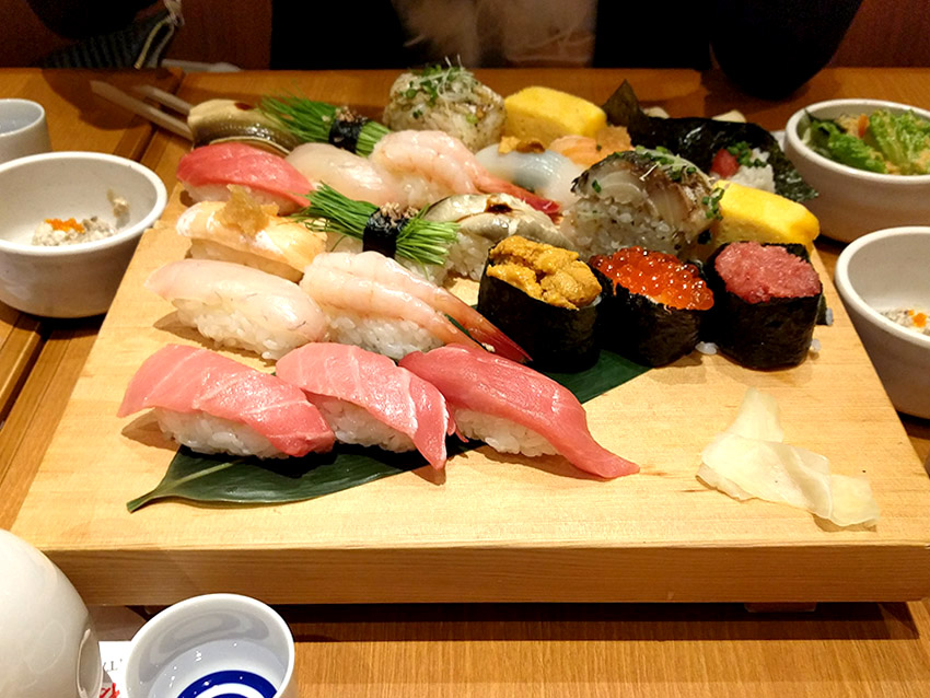 Sushi - the best food in Tokyo.