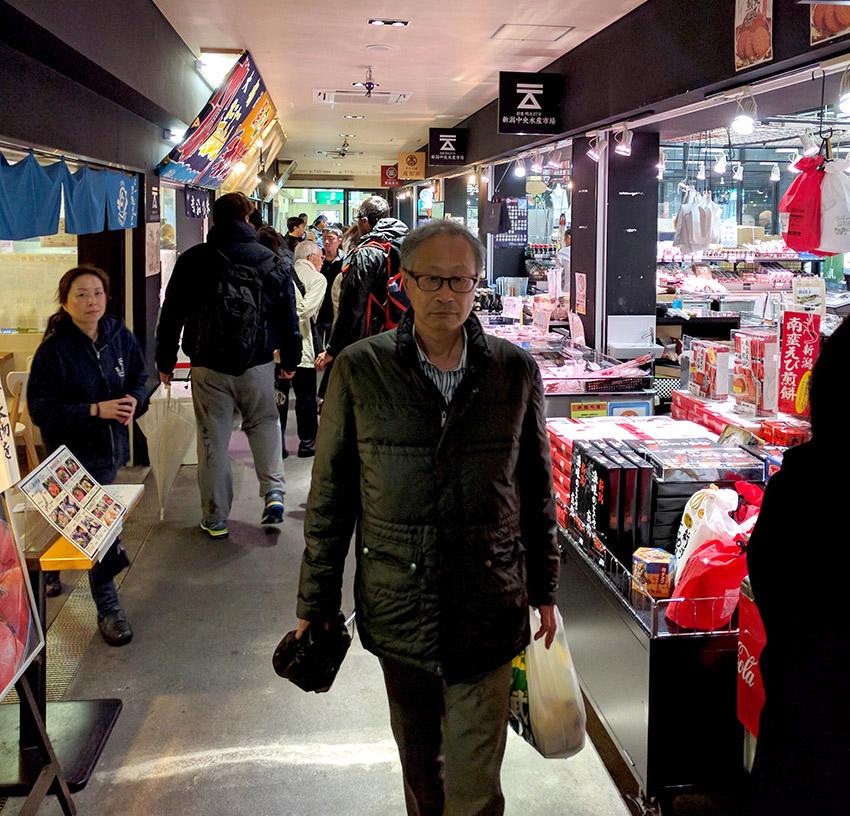 Tsukiji Nippon Fish-Port Market in Tokyo.