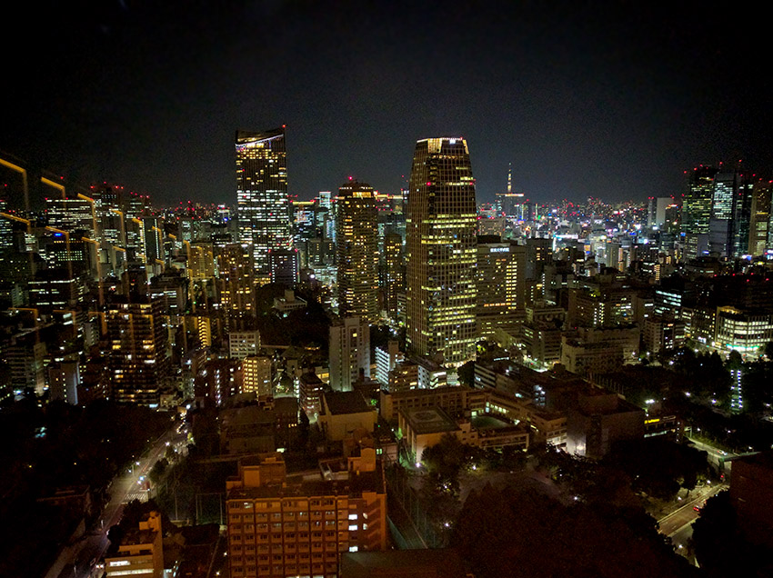 View from the Tokyo Tower in Minato city, Tokyo.