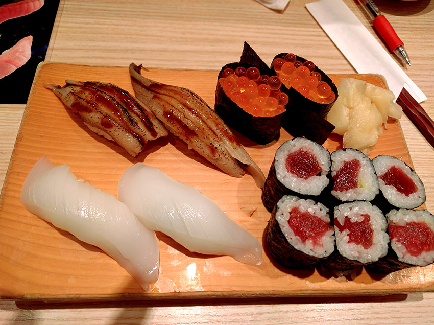 Never enough of sushi in Tokyo.