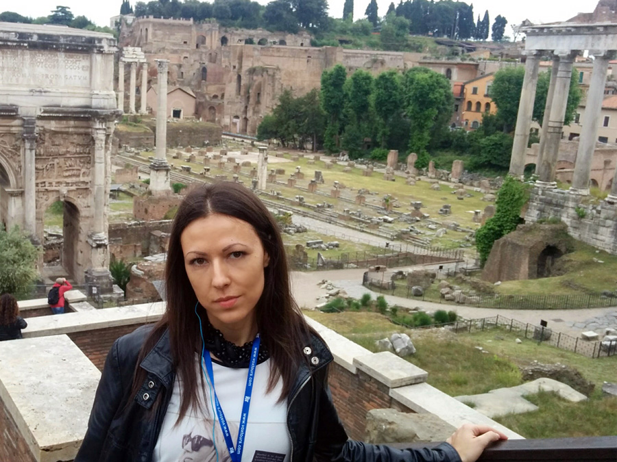 In front of the Roman Forum, Rome, Italy