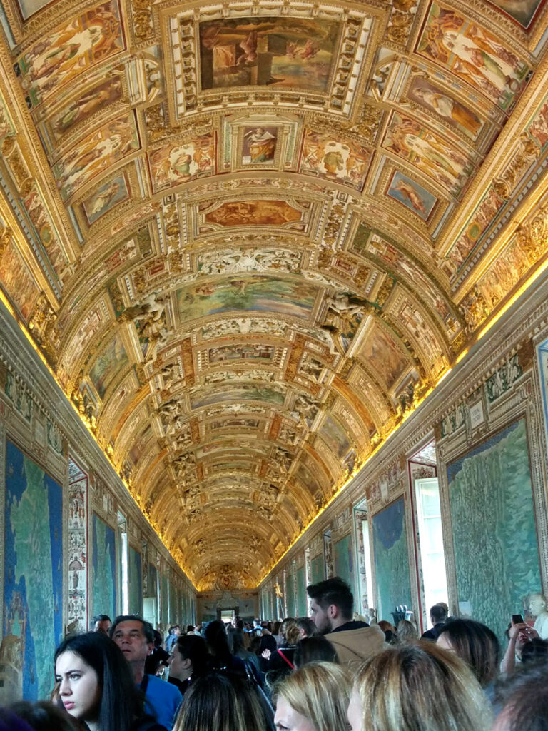 Inside of the Vatican museum