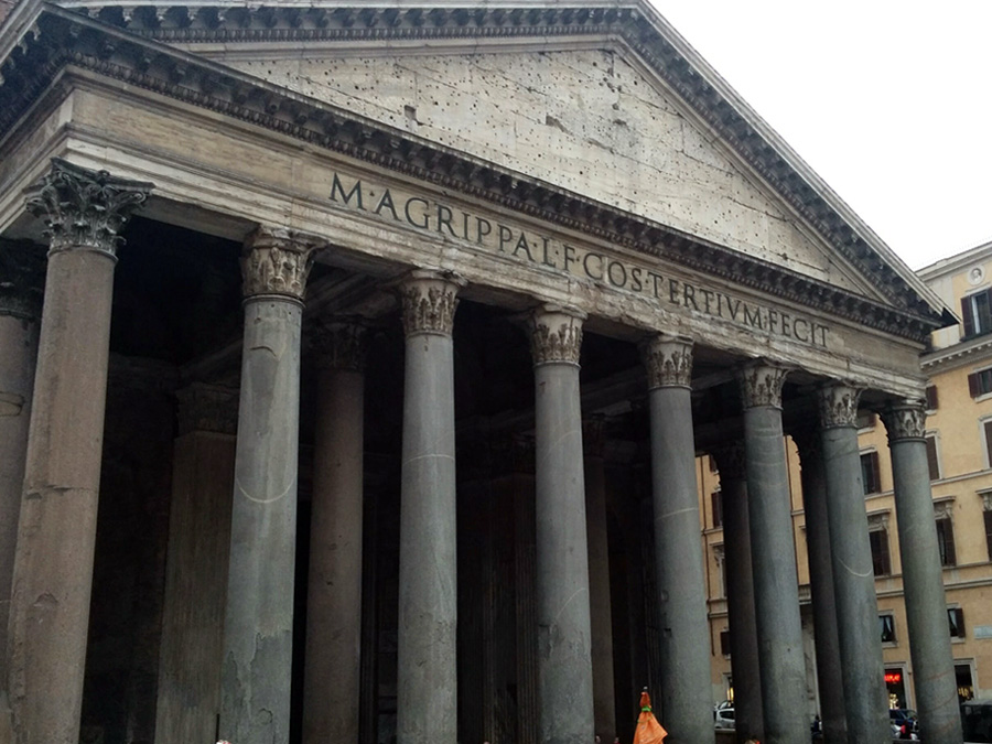 Pantheon building in Rome Italy