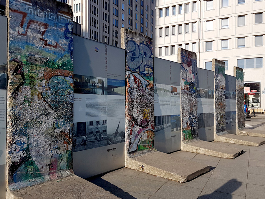 Remains of the Berlin wall at Postdamer platz