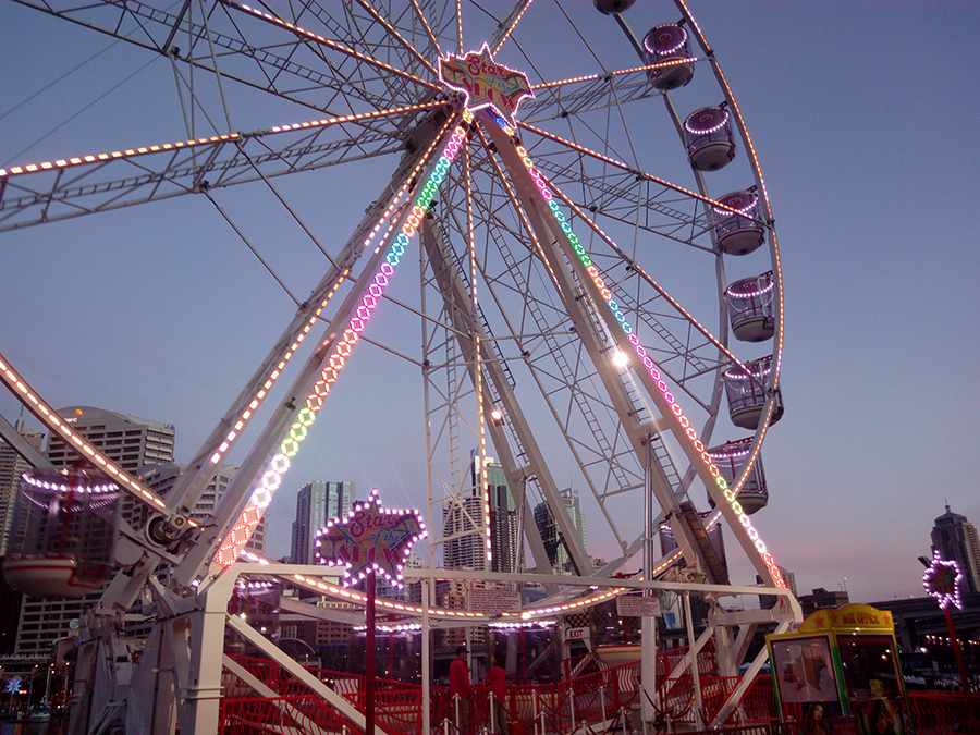 Ferris wheel, Darling harbour Sydney