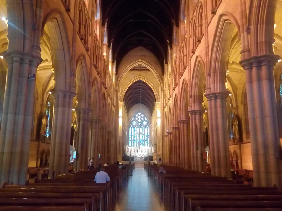 Inside of the St Mary's cathedral, Sydney