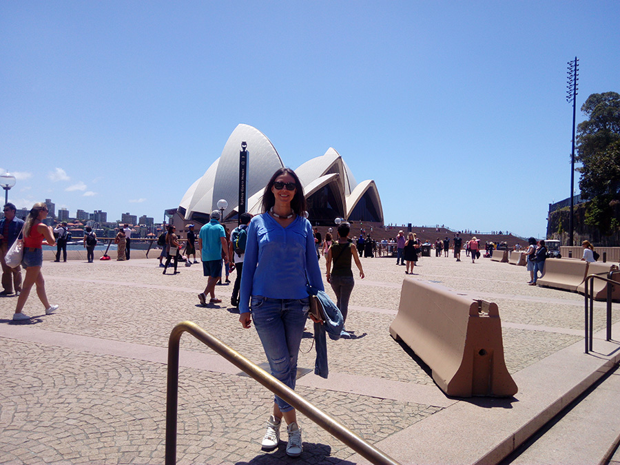 Me in front of the Sydney Opera House