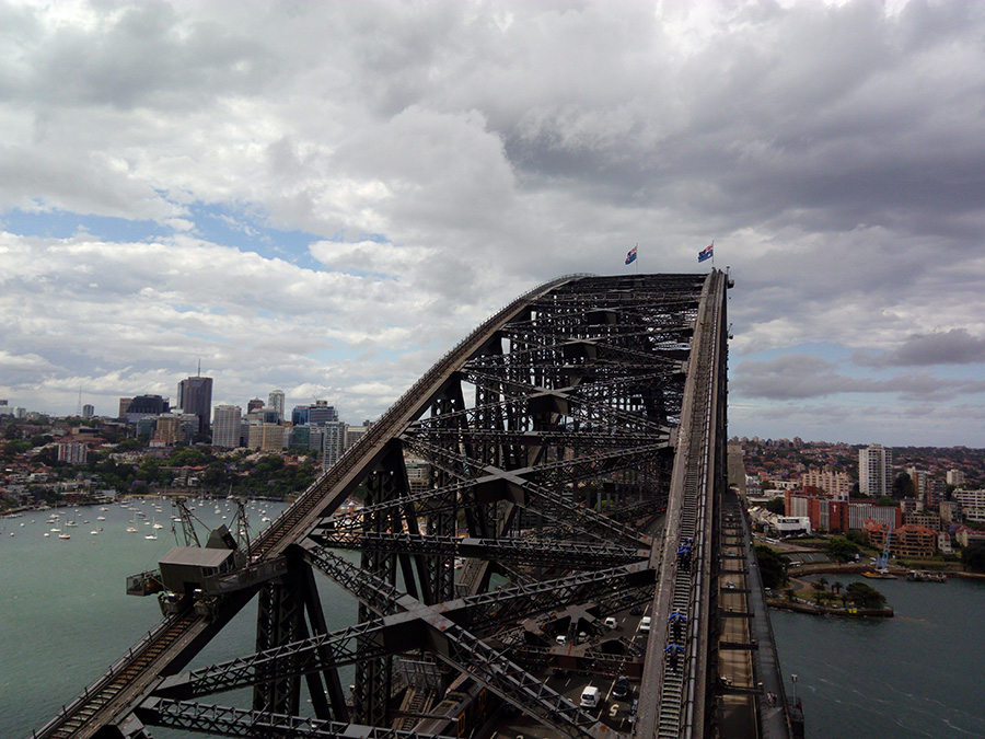Pylon view Harbour bridge Sydney
