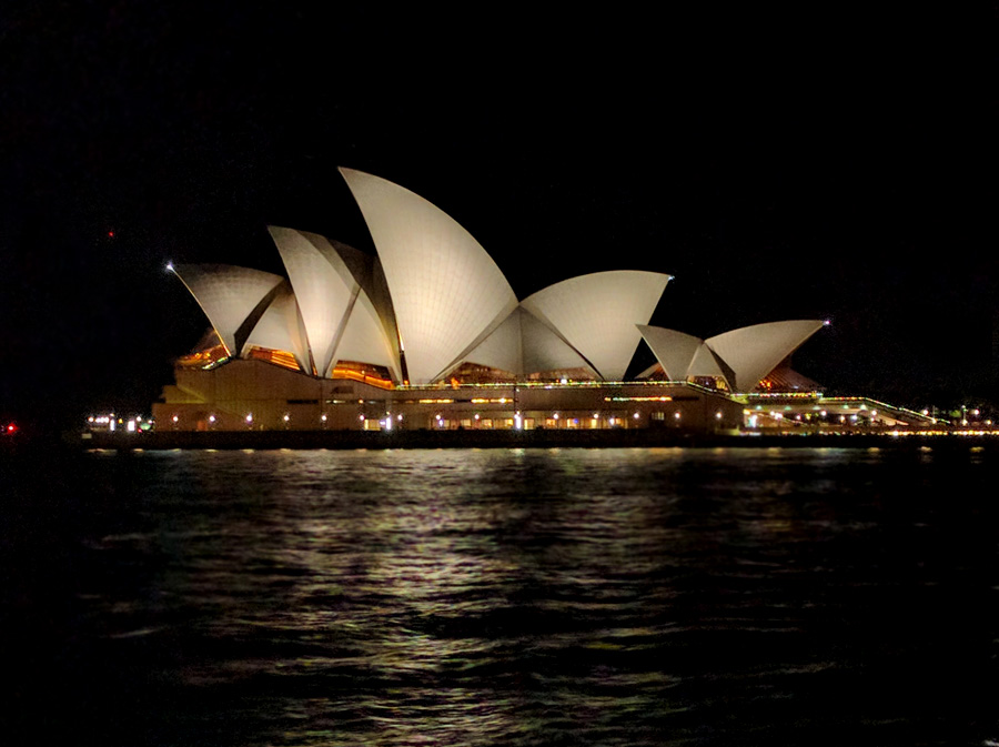 Sydney Opera House at night, Australia