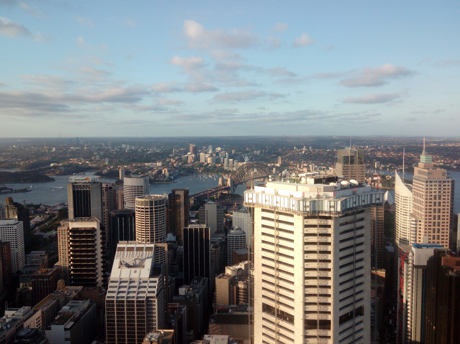 Sydney Tower Eye view from the tower