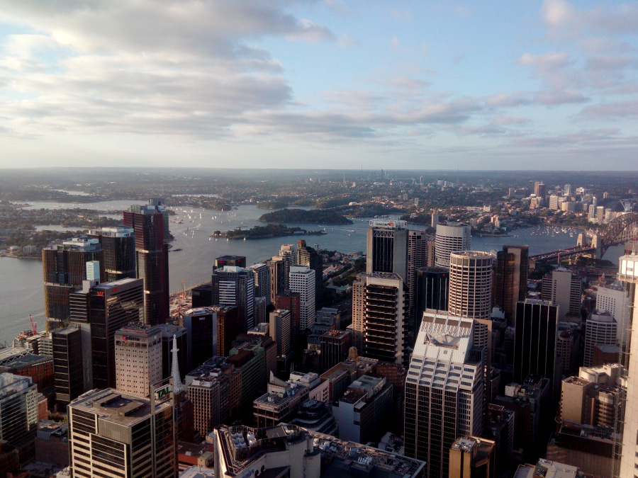 Sydney Tower Eye - beautiful view from the tower