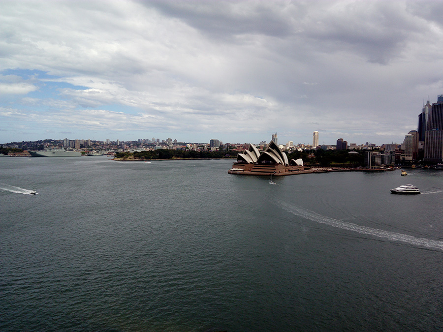Sydney opera house - view from the Pylon Harbour bridge