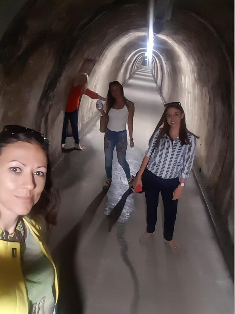 Walking trough Gric tunnel